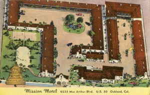 Mission Motel, 9235 MacArthur Blvd., U. S. 50, Oakland, Cal., mailed 1953
